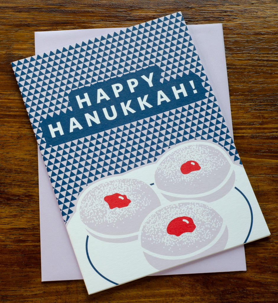 Happy Hanukkah Donuts | Screen Printed Card