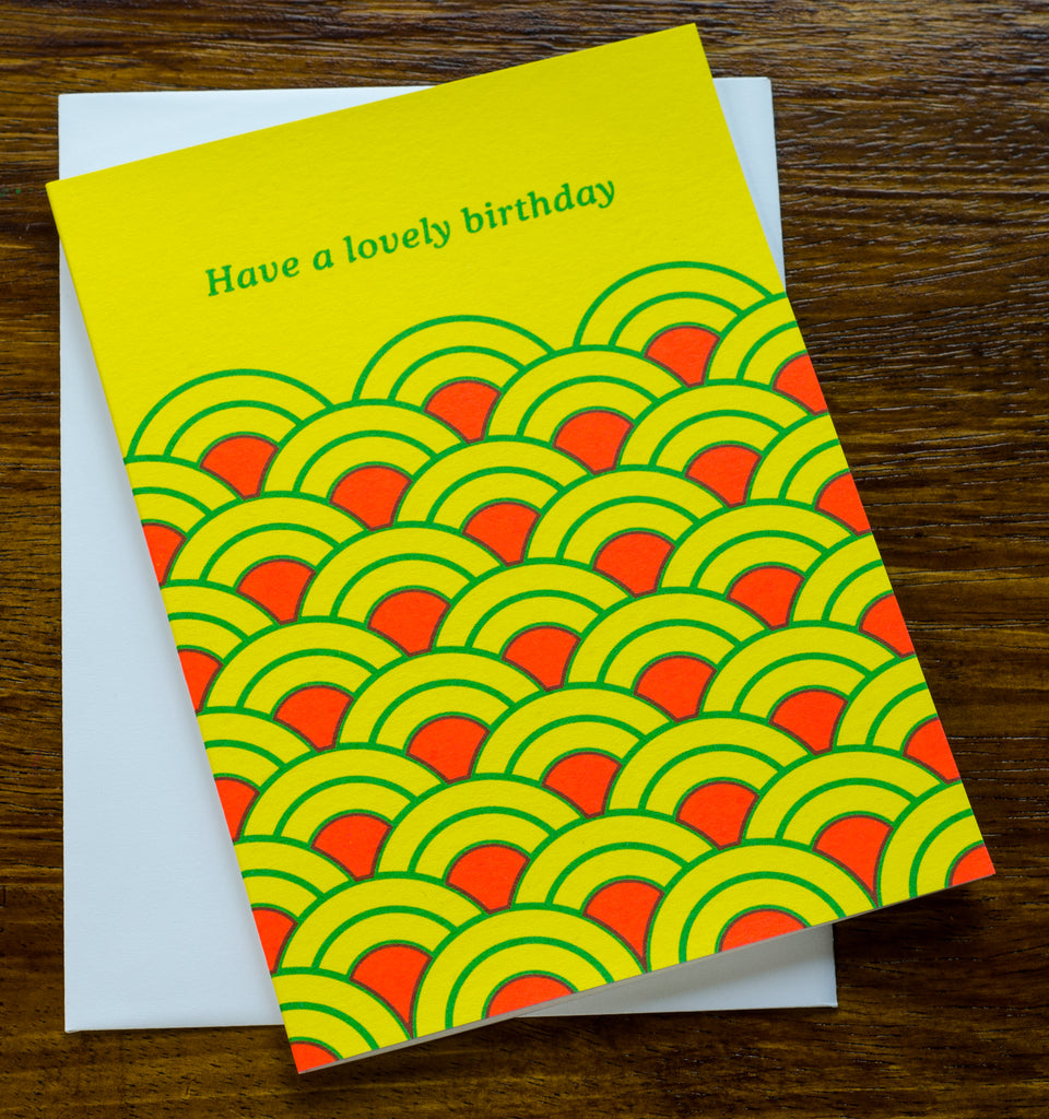 Lovely Birthday | Screen Printed Card