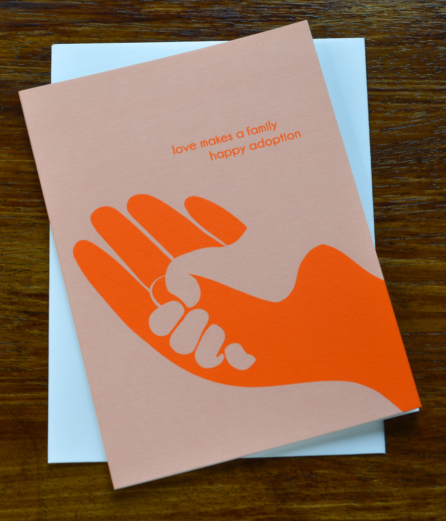 Loves Make A Family | Screen Printed Card