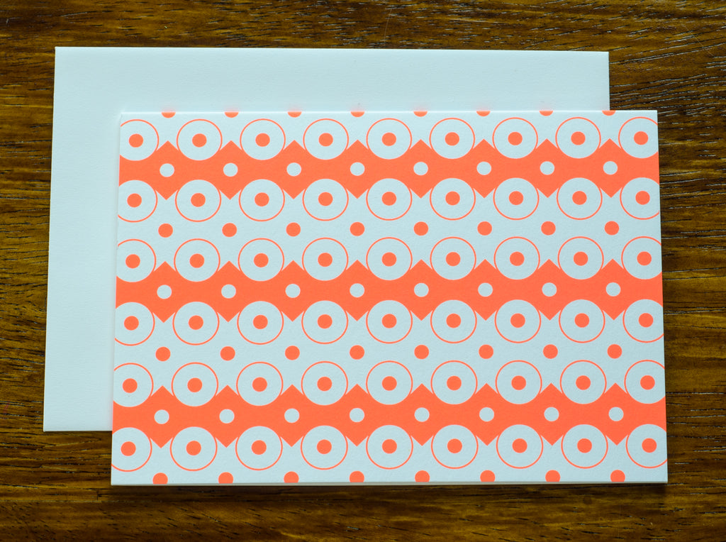 Geo Orange | Note Cards