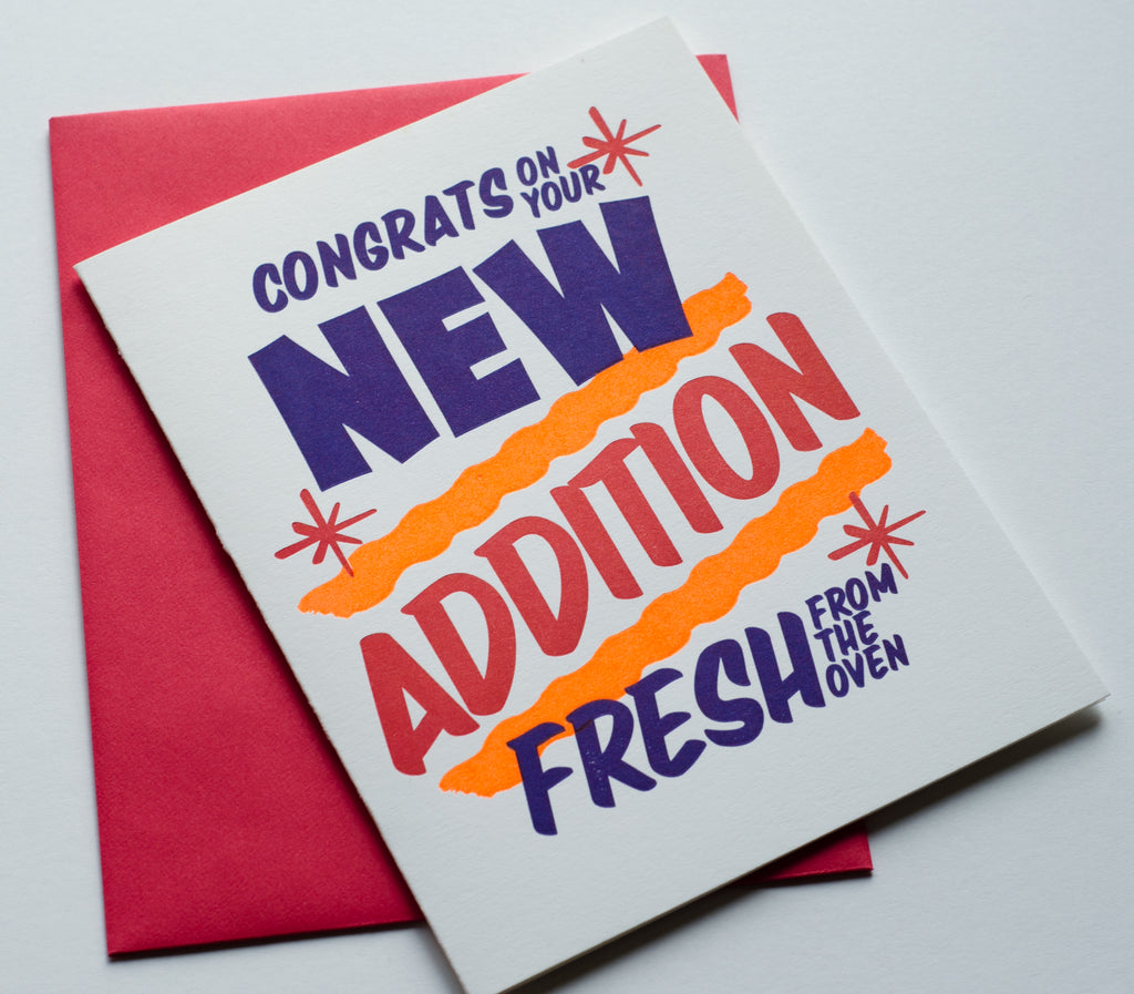 Grocery New Addition Sign | Letterpress Card