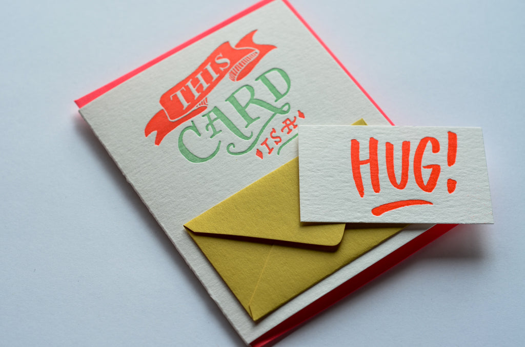 This is a Hug | Letterpress Card