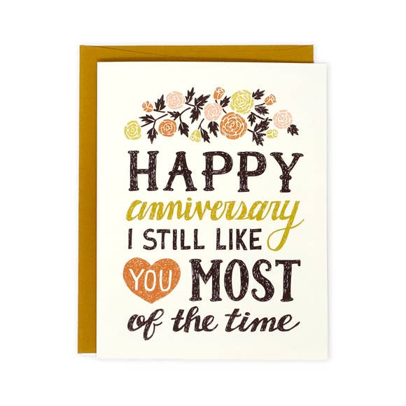 Still Like You Anniversary Card