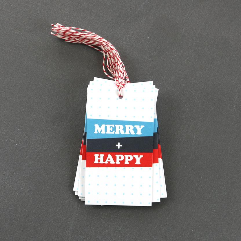 Merry Happy Holiday | Gift Tags