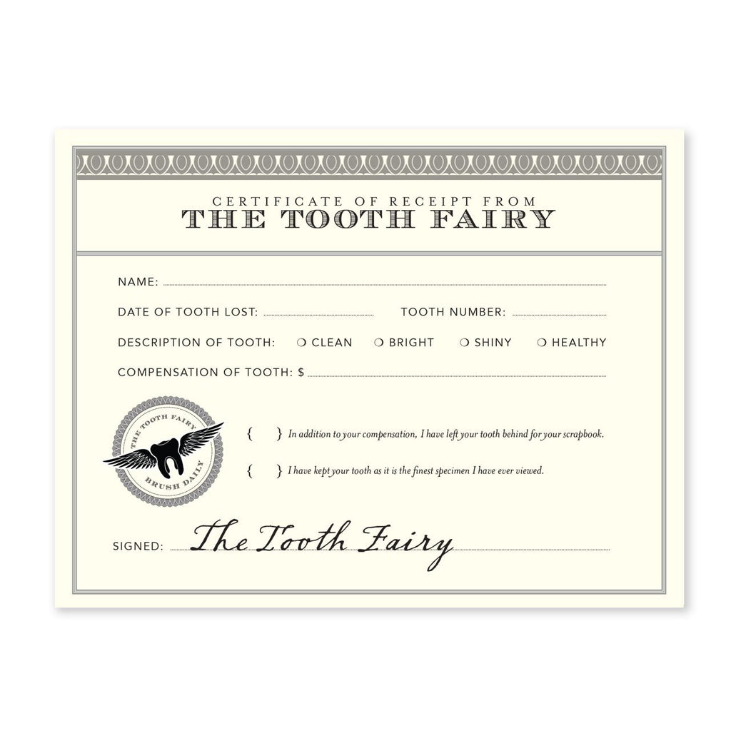 Tooth Fairy Receipt | Notecard Set