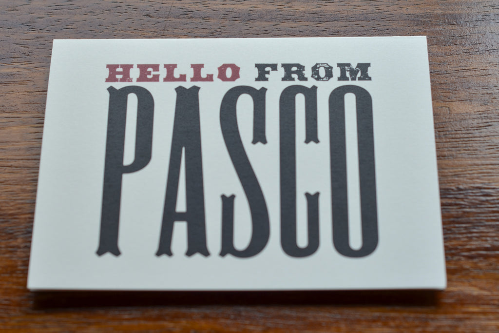 Hello From Pasco | Notecard Set