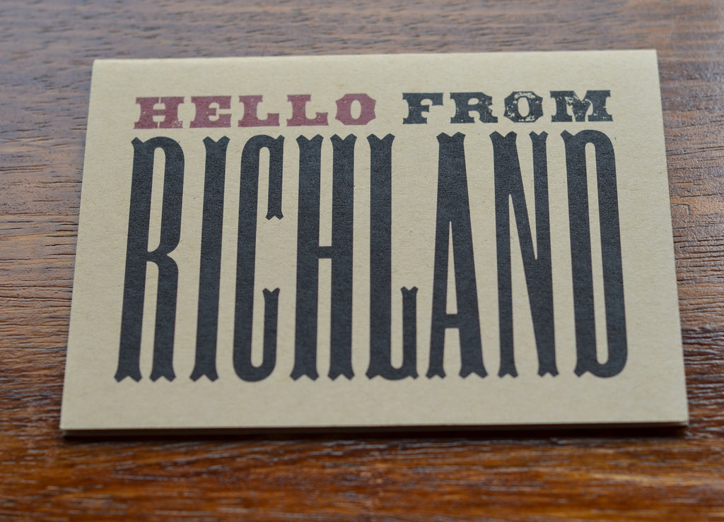 Hello From Richland | Notecard Set