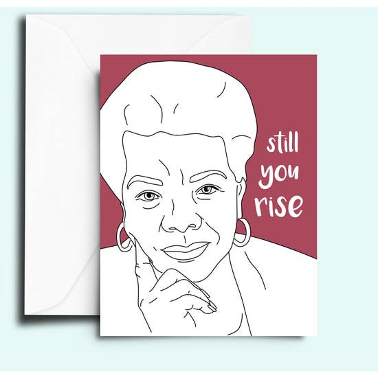 You Shall Rise (Angelou) Card