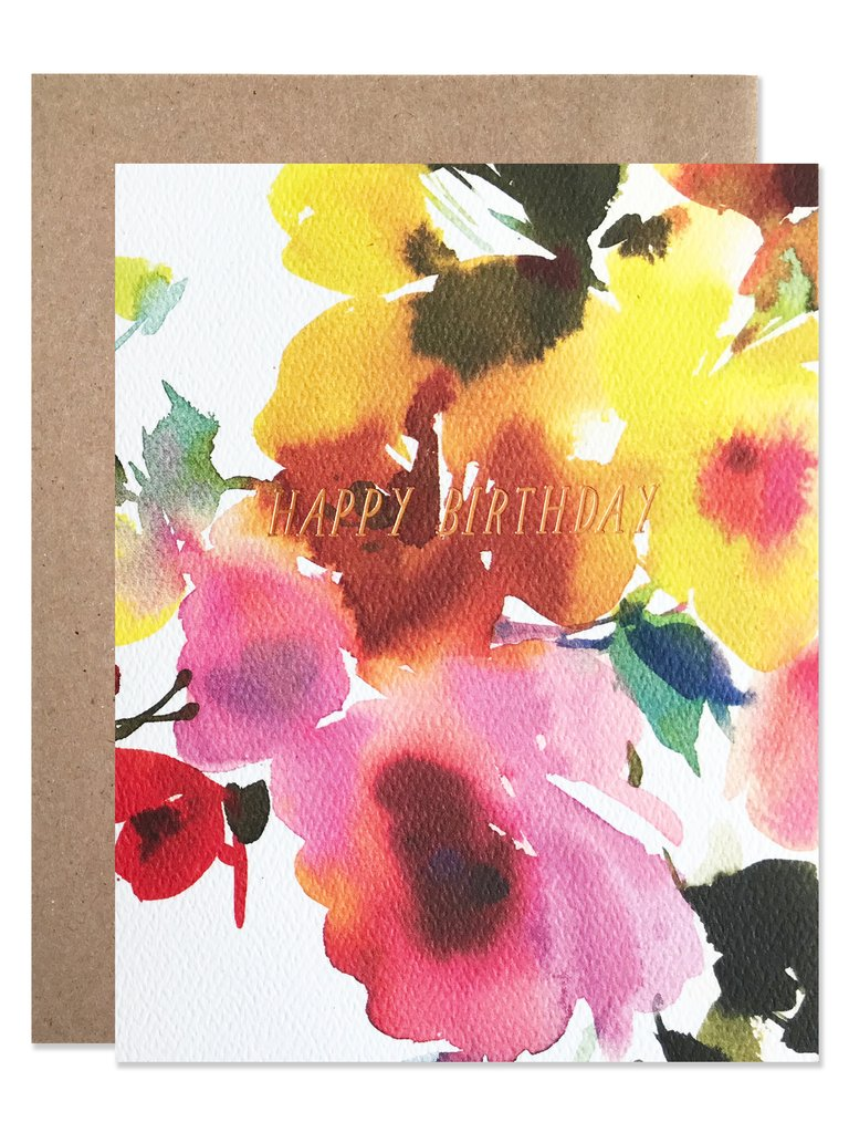 Birthday Florals Card