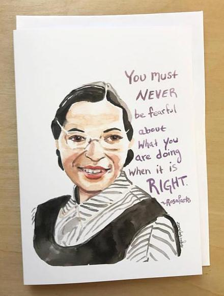 Rosa Parks Portrait Quote Card