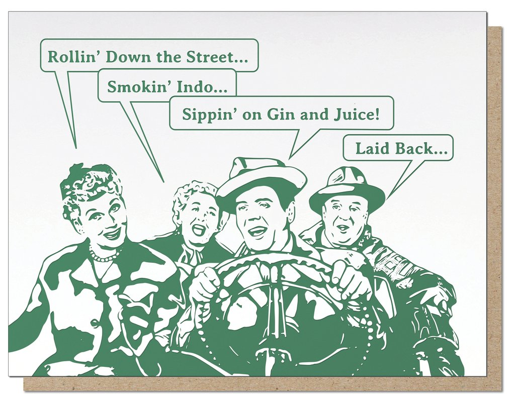 I Love Lucy Smokin' Indo | Letterpress Card