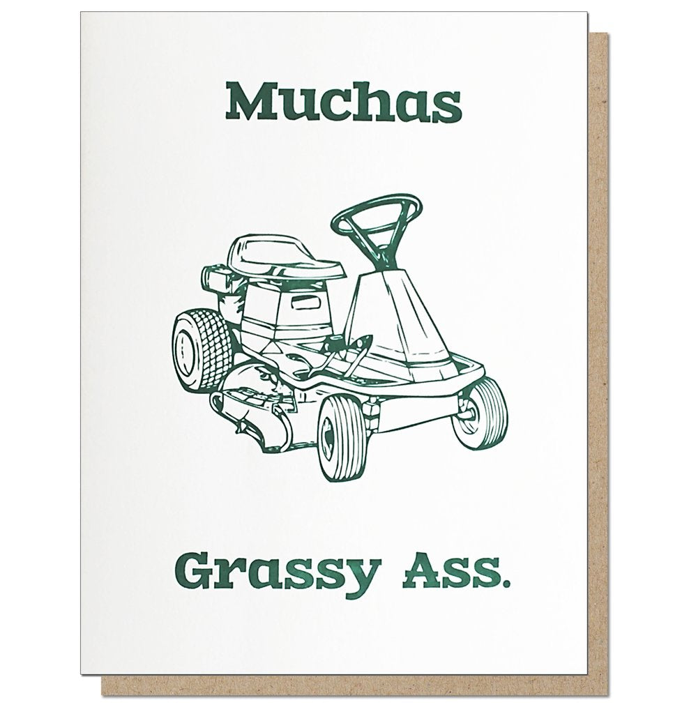 Muchas Grassy Ass | Letterpress Card