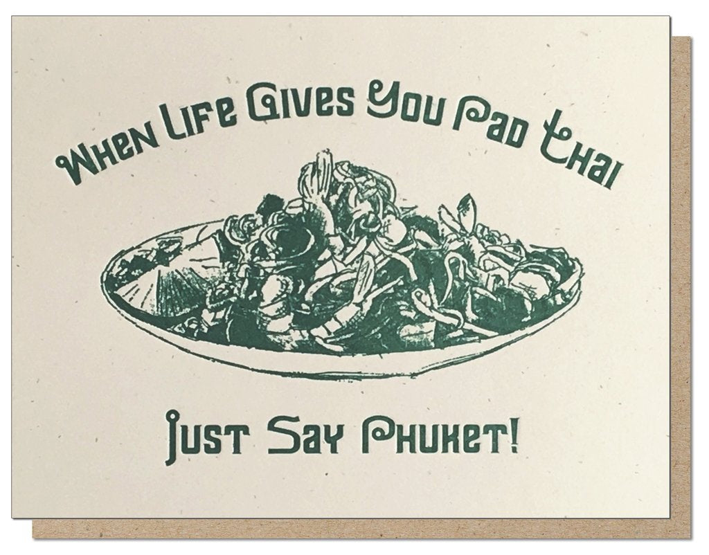 Pad Thai Phuket | Letterpress Card