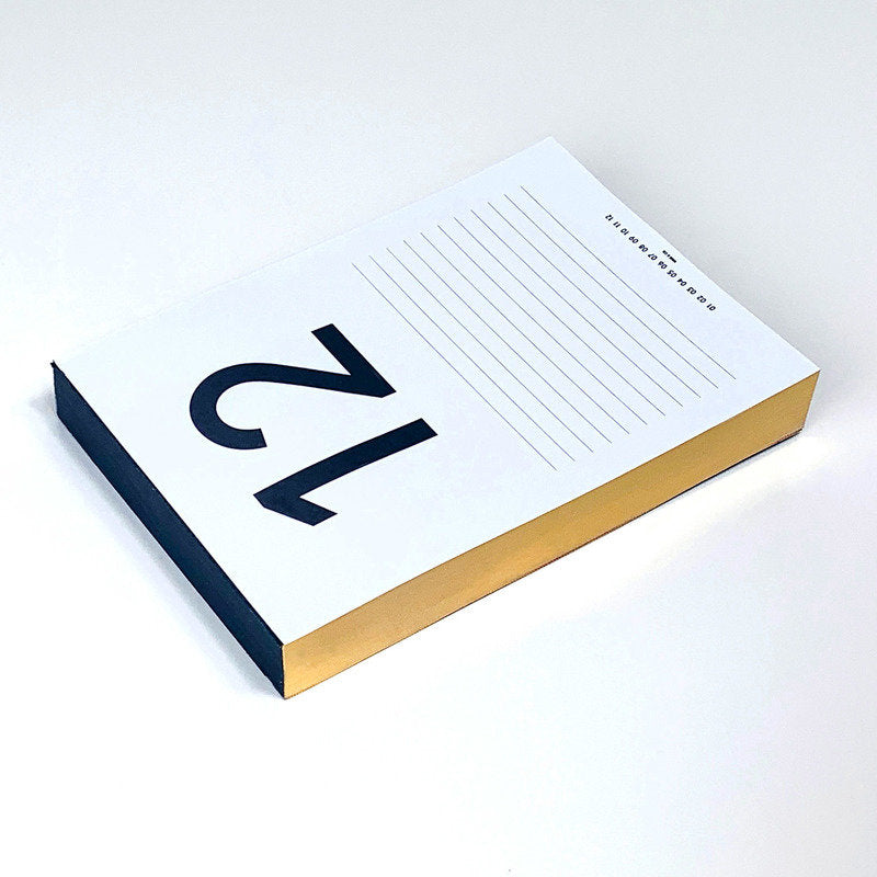 Daily Calendar Pad (Gold)