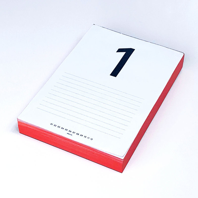 Daily Calendar Pad (Red)