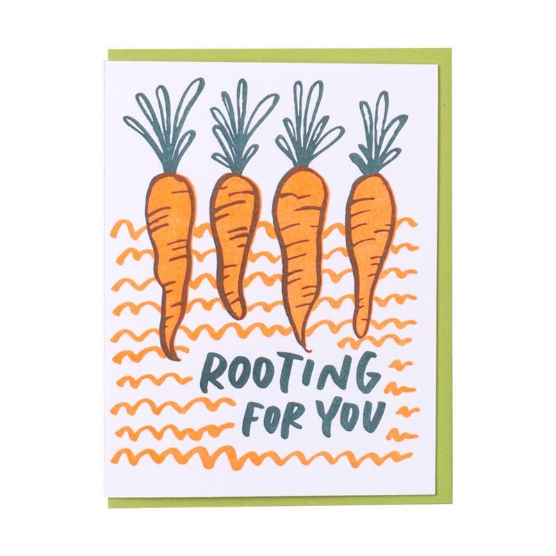Rooting for You | Letterpress Card