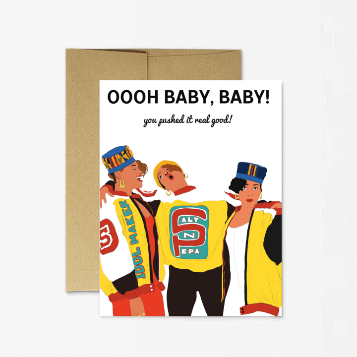 Oooh Baby, Baby Card