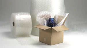 bubble wrap, air pillows packaging, air cushions