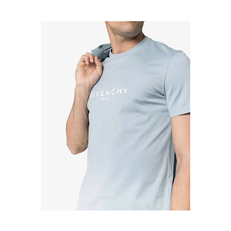Givenchy Pale Blue Faded Logo T-shirt