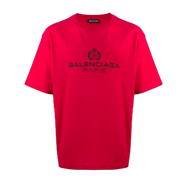 Balenciaga Rose Laurel Logo T-Shirt