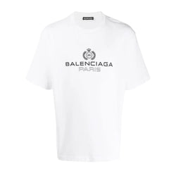 Balenciaga White Laurel Logo T-Shirt