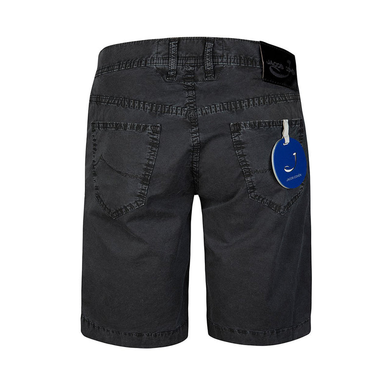 Jacob Cohën Mens Straight Leg Demin Shorts (Black)