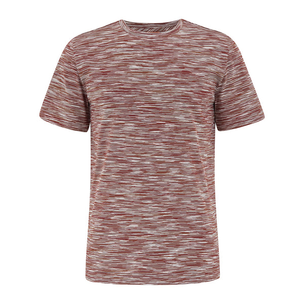 Missoni Men Short Sleeved Striped T-Shirt Brown New SS21