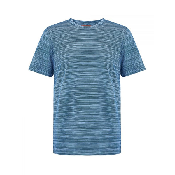 Missoni FW20 Crew Neck Striped T-Shirt (Blue/Blue)