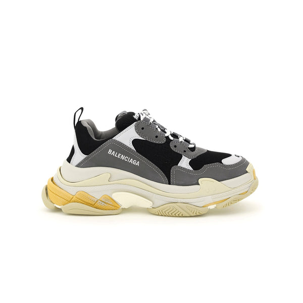 Balenciaga Triple S Sneakers (White/Yellow/Grey)
