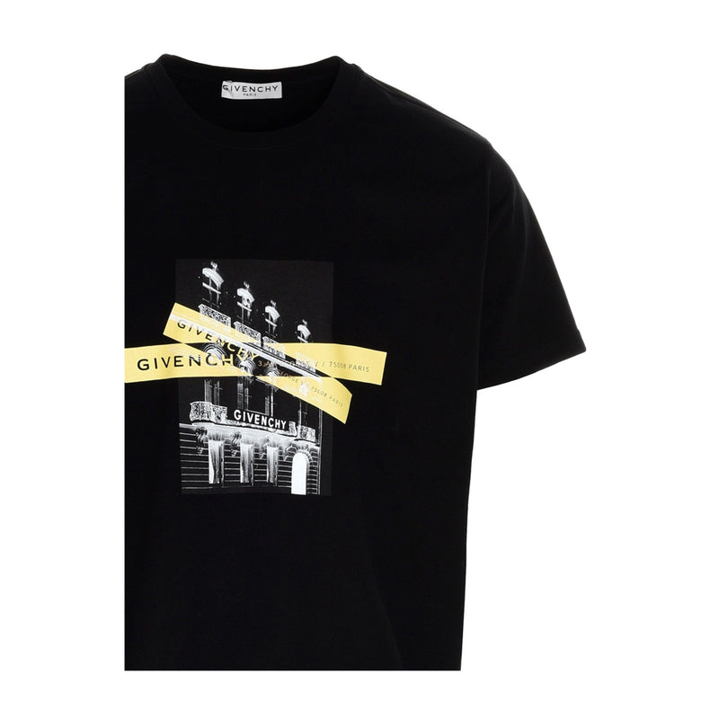Givenchy Yellow Cross printed cotton T-shirt