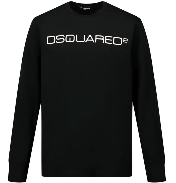 Dsquared2 Kids Logo Long Sleeve T-shirt (black)