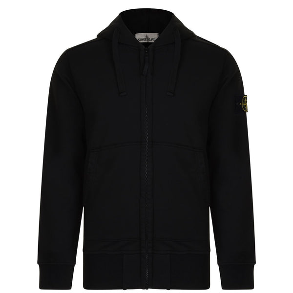 Stone Island Badge Zip Hooded Jacket