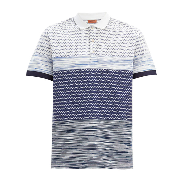 Missoni FW20 Zigzag Jacquard Cotton Polo Shirt
