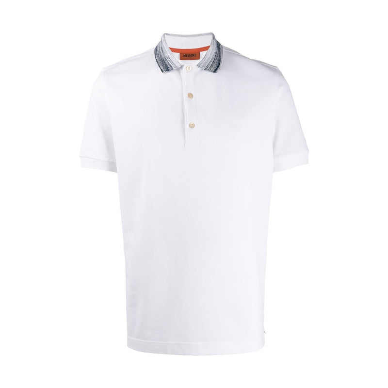Missoni Contrast Collar White Polo