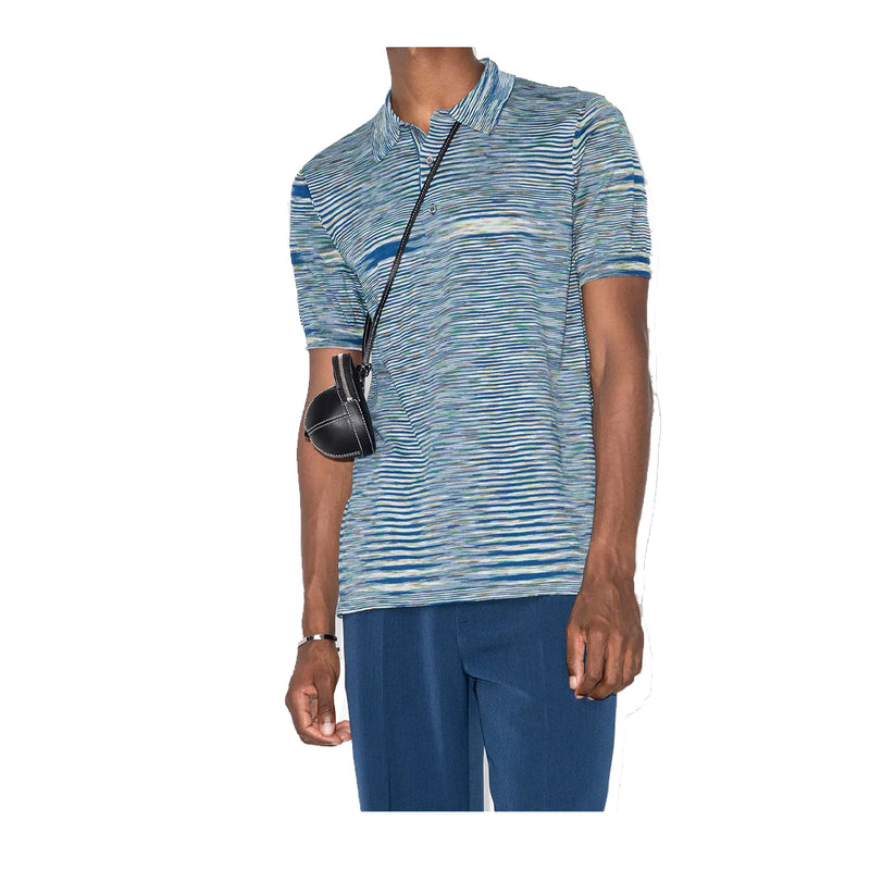Missoni Stripe Dye Knit Polo Shirt
