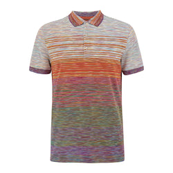 Missoni SS21 Short Sleeved Polo Orange/Purple/Red