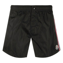 Moncler Logo Patch Swim Shorts