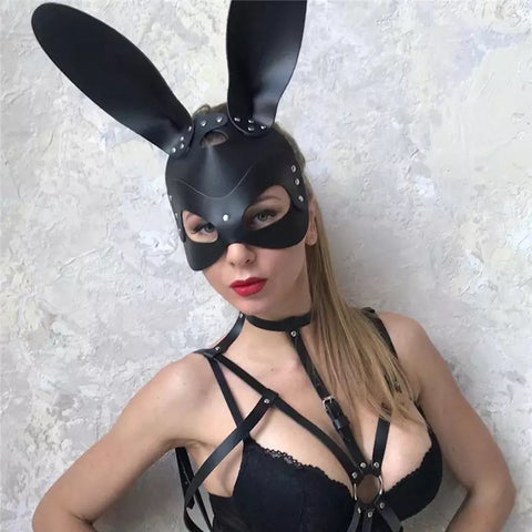 ALL BLAKC BUNNY MASK