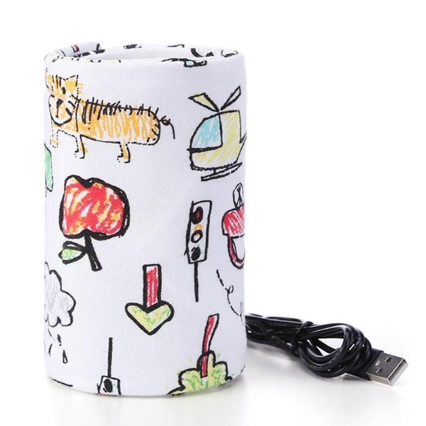 USB Milk Warmer Insulated Bag Portable Travel Cup Warmer Baby Nursing Bottle