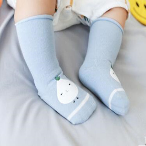 2019 autumn and winter new cartoon printing rubber baby socks