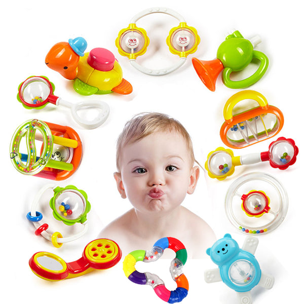 Baby Rattles Toys Newborn Hand Bells Baby Toys 0-12 Months Teething safe