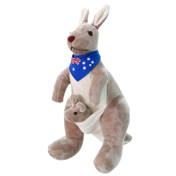 LCLL-Sweet Kangaroo Stuffed Animal Soft Plush Doll Toys for Baby Kids (Blue)