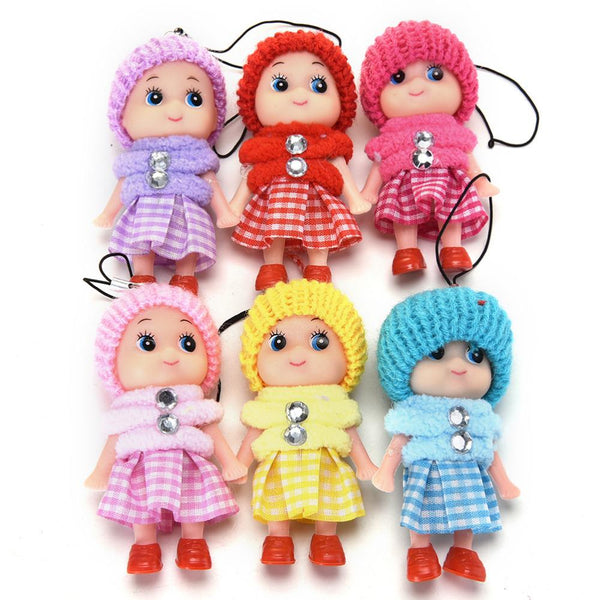 5Pcs/lot Cute Mini Dolls Kids Baby Cartoon Movie Plush Toys Pendant Gift For Girls