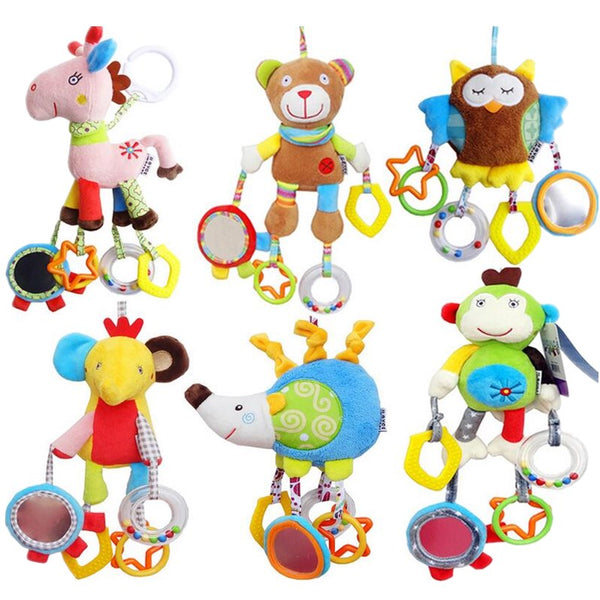 Baby Infant Animal Soft Rattles Bed Crib Stroller Music Hanging Bell