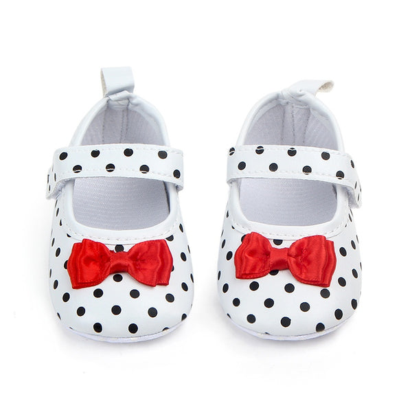 Baby Girl Shoes Toddler Infant Anti-slip Polka Dot PU First Walkers Shoes
