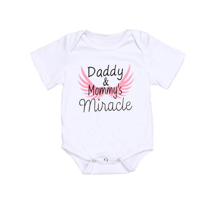 Newborn Kids  Clothes Father's Day Letter Print Romper Bodysuit 2019