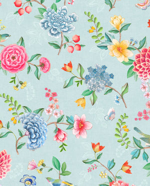 Pip Studio No 100 Wallpaper, Blue / Multi Color