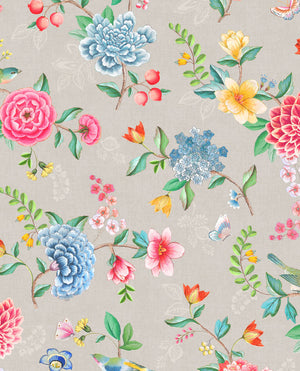Pip Studio No 100 Wallpaper, Beige / Multi Colour