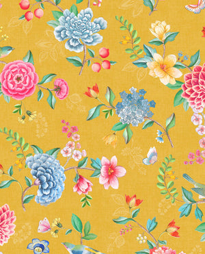Pip Studio No 100 Wallpaper, Yellow / Multi Color