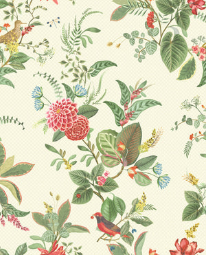 Pip Studio No 110 wallpaper, White / Multi Colour